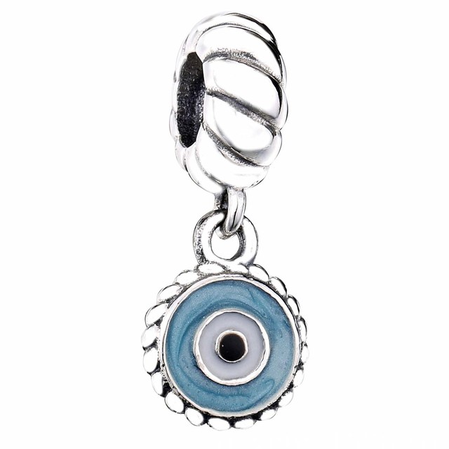 83ffd2e8a New 925 Sterling Silver Bead Charm Mix Enamel Watchful Eye Pendant Beads  Fit Pandora Bracelet Bangle Diy Jewelry