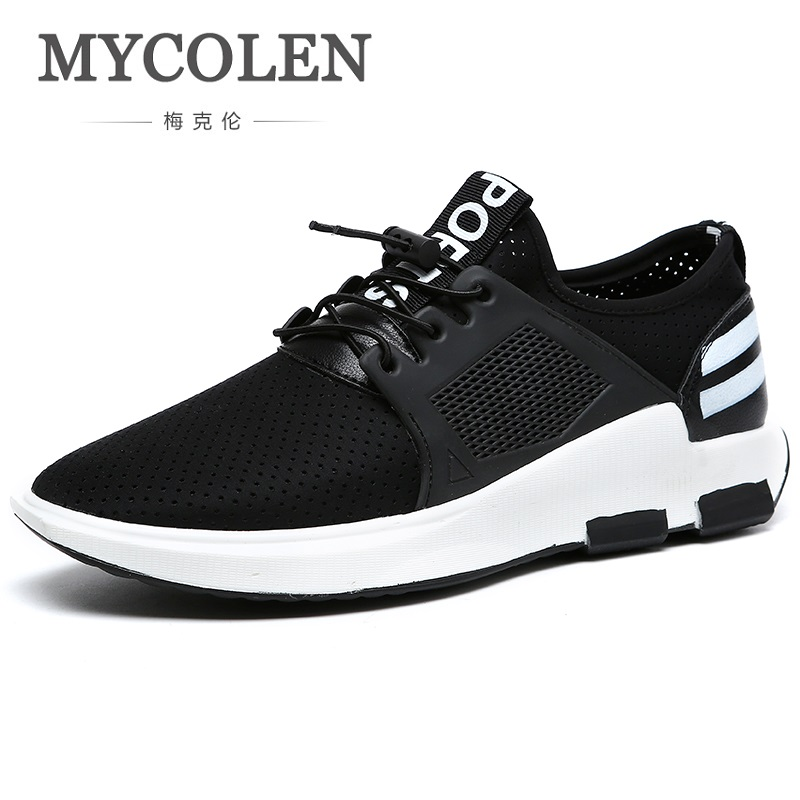 MYCOLEN The New Listing Men's Black Casual Shoes Men Tide Lace Up Canvas Shoes For Men Fashion Breathable Men Shoes Zapatillas 2017 new spring autumn men casual shoes breathable black high top lace up canvas shoes espadrilles fashion white men s flats