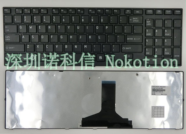 Laptop US Keyboard for <font><b>Toshiba</b></font> <font><b>Satellite</b></font> <font><b>P750</b></font> P750D P755 P755D P770 P770D P775 P775D Qosmio X770 X775 image