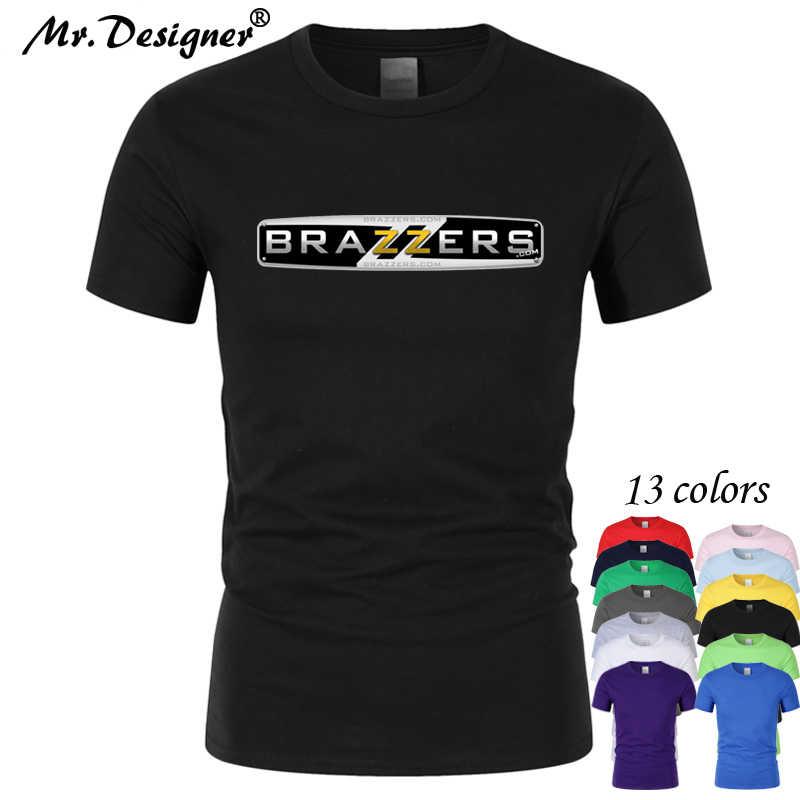 445089ce57d Men's Funny Hub brazzers Cotton Printing T-shirt Unisex Summer Casual  Harajuku T Shirt Women