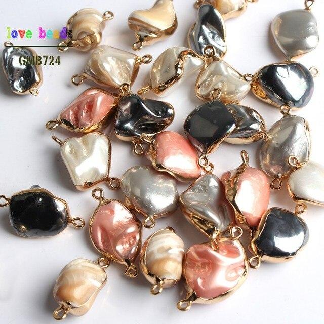 Tự nhiên Nhiều Màu Nước Ngọt Ngọc Trai Lỏng Lẻo Bất Thường Ngọc Trai Hạt đối với Trang Sức Làm Tự Làm Vòng Cổ Ngọc Trai Vòng Đeo Tay