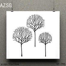 AZSG Withered / Leafless Tree Silicone Clear Stamps/Seals For Scrapbooking DIY Clip Art / Album Decoration Stamps Crafts(China)