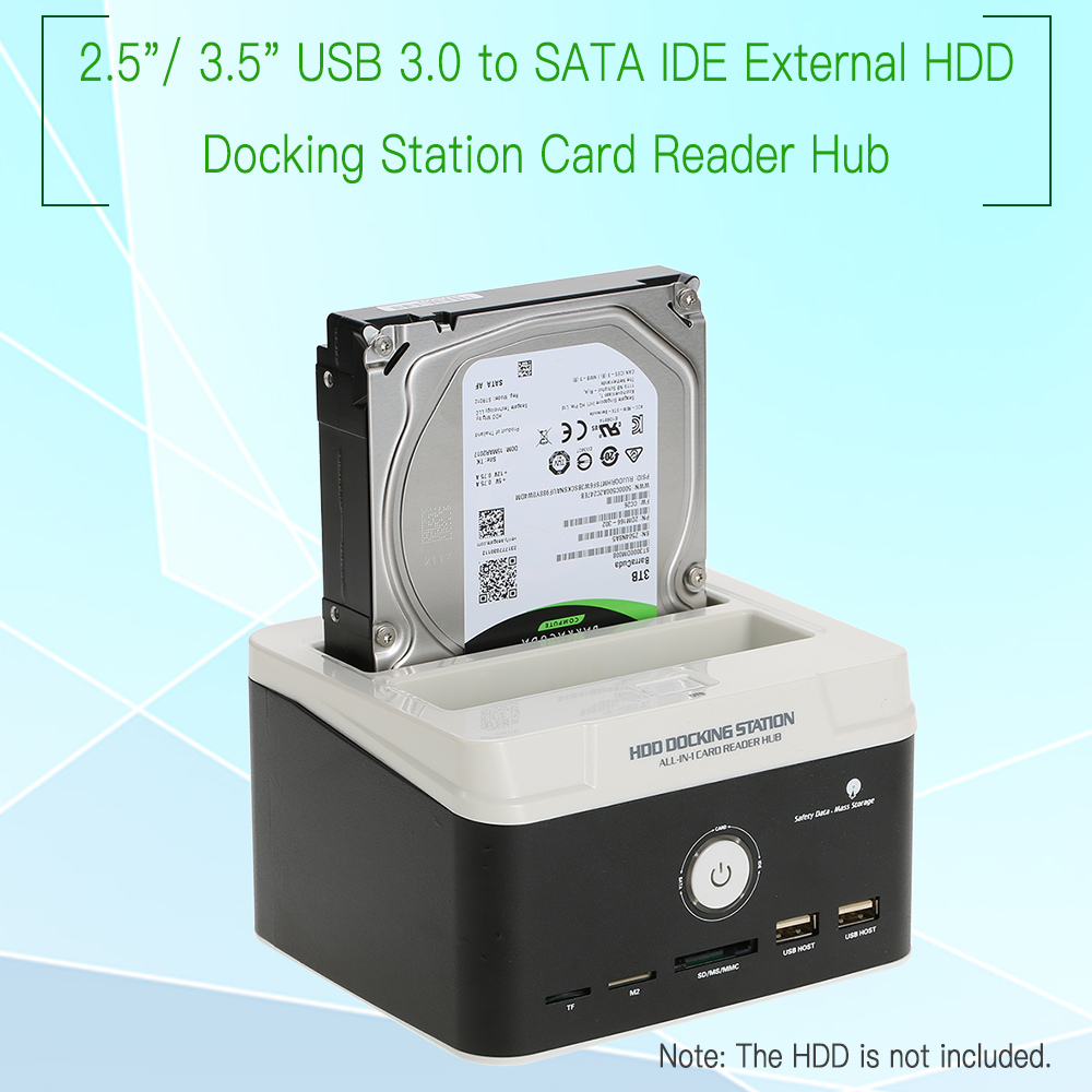 Multifunctional 2 5 3 5 USB 3 0 to SATA IDE External HDD Hard Drive Docking