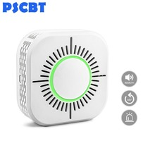 PSCBT Smoke Detector Alarm Fire Sensor Wireless 433MHz Fire Security Alarm Protection for Home Factory Security Alarm System