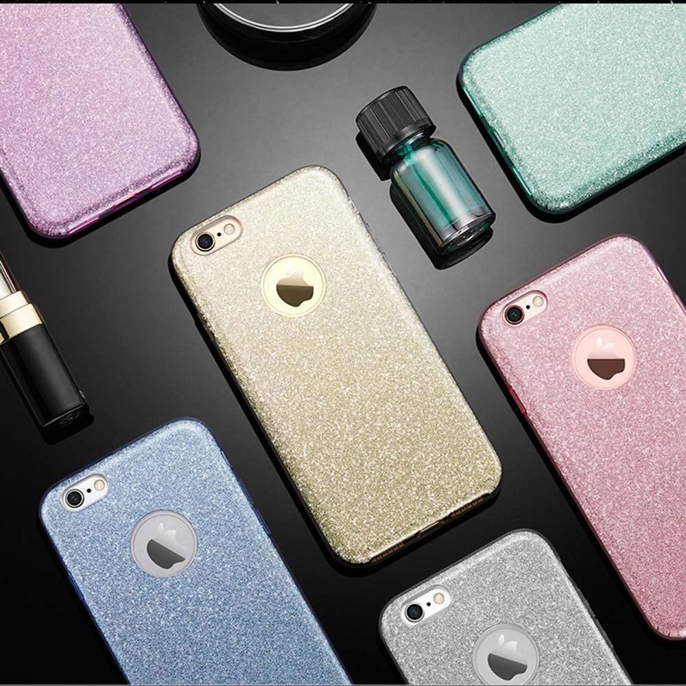 Iphone 6 6s 7 Plus For Iphone 8 X Glitter Girl Black Rose Gold Pink