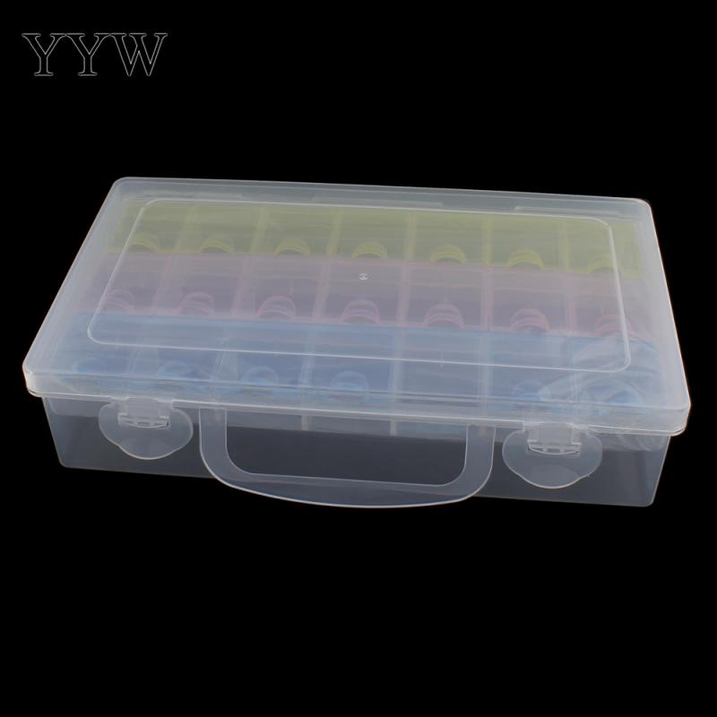 Big Plastic Tool Box Case 21 cells Jewelry Rings Craft Organizer Storage Beads tiny stuff Compartments Containers Makeup Box