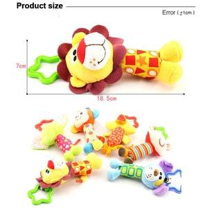 Image 5 - 6 stile Baby Kinder Rassel Spielzeug Cartoon Tier Plüsch Hand Glocke Neugeborenen Baby Kinderwagen Krippe Hängen Rasseln Kawaii Baby Infant spielzeug