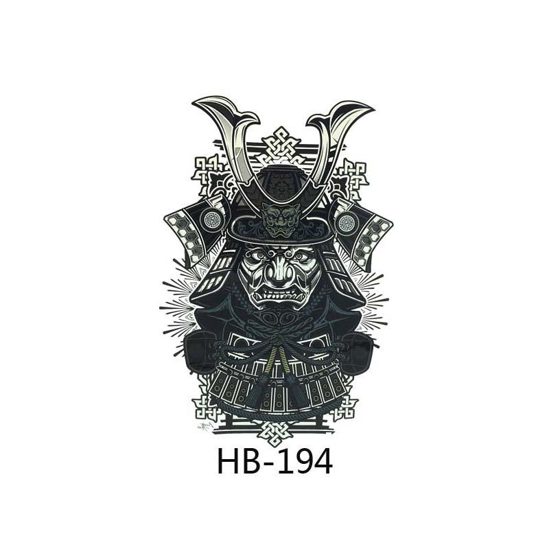 x diy arte corporal tatuaje temporal brazo zen japons samurai warrior soldado impermeable tata la etiqueta engomada