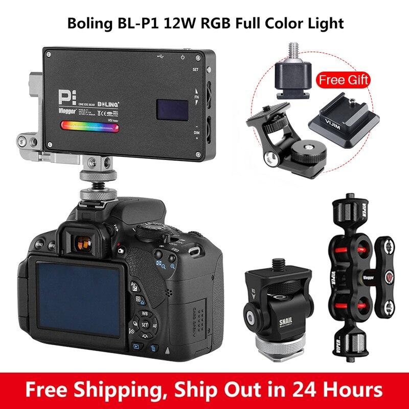 Boling BL-P1 rvb couleur LED lumière vidéo P1 2500 K-8500 K Dimmable photographie vidéo Studio DSLR caméra lumière pour vlog en direct