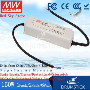 Image 2 - (6PACK)Meanwell 150W IP67 waterproof Power Supply LPV 150 24V LPVL 150 12V 15V 36V 48V 8A 10A DC Display LED light strip Monitor