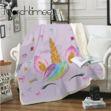 Pink Horse Coral Fleece Fabric Blanket Portable Office Floral Flannel Throws Blanket Kids Adults Bed Sofa Soft Garland Sheet