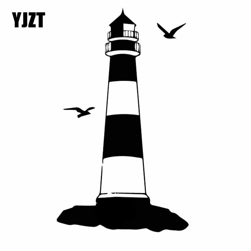 YJZT 8.9CM*15.2CM High Tower Window Nice Vinyl Decal Beautiful Car Sticker Black/Silver C27-0032