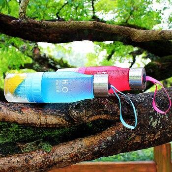 Xmas Gift 650ml Infuser Water Bottle Plastic Fruit Infusion Kids Drink Outdoor Sports Bottle Juice Lemon Portable Kettle 4