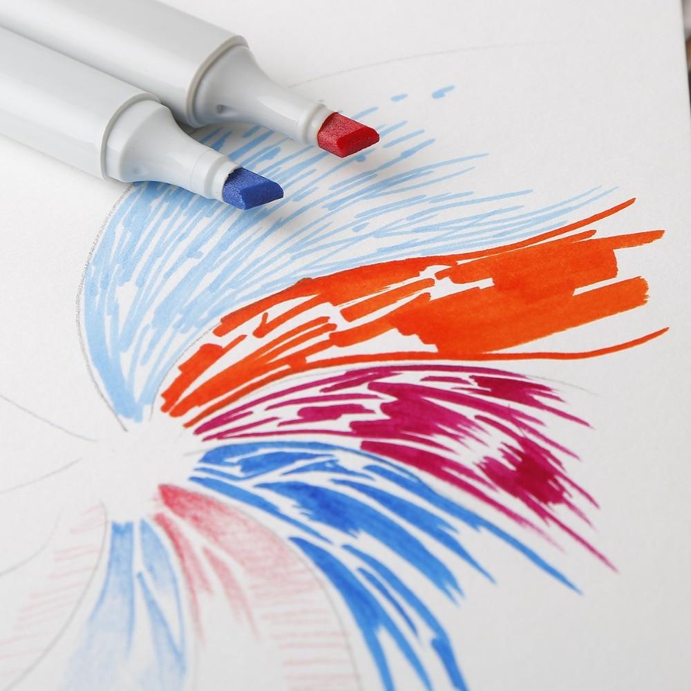 carvao gouache arte suprimentos papel liso sketchbook 03