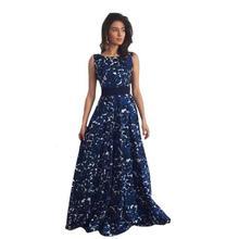 Пикантные Для женщин Цветочный Длинные платья Для женщин s Лето рукавов Boho Maxi пляжное платье Элегантная дама спинки Формальные Платья для вечеринок # Ju