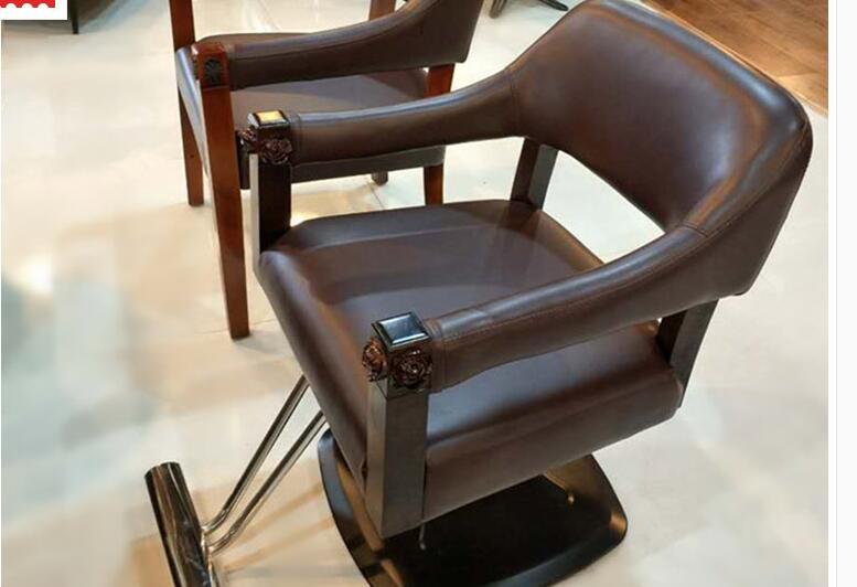 Парикмахерские ретро Утюг промышленных ветер волосы стул Прямая с фабрики Парикмахерская специальный стул - Цвет: 01