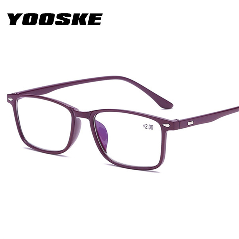 YOOSKE Men's Reading Glasses TR90 Presbyopia reading eyeglasses Blue Film Female Male Presbyopic Glasses +1.0 1.5 2.0 2.5 3.0 1