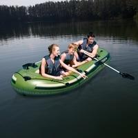 11ft длинные 3 человек надувная лодка каяк Voyager уличная берег реки рыболовное судно воды игрушки для бассейна веселье плот темно зеленого цвет