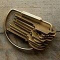 Nuevo 2017 Hecho A Mano Puro de cobre de Cobre amarillo de Los Hombres Llavero Llavero Titular de Anillo de Los Hombres de Regalo de La Novedad de La Baratija Diseño Simple