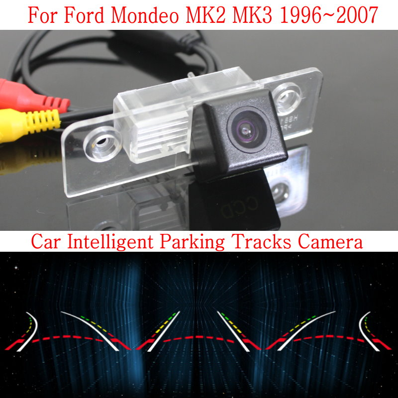 Car Intelligent Parking Tracks Camera FOR Ford Mondeo MK2 MK3 / Back up Reverse Camera / Rear View Camera / HD CCD Night Vision купить