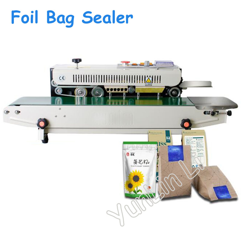 Electric Plastic Foil Bag Sealing Machine Automatic Date Stamping Machine for Packing FRB-770I horizontal type sealing machine frb 770i continuous automatic sealing machine automatic film sealing machine