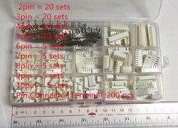 85 establece Kit de caja de 2P 3P 4P 5, P 6p 7p 8p 9p 9 P 10pin 2,54mm Terminal conector de pines conectores de cable adaptador kits XH