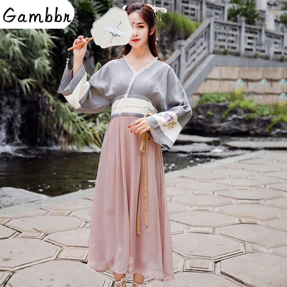 Традиционная китайская одежда Hanfu женский косплей сказочный костюм Старинное платье танцевальная сцена Династия Тан наряд