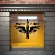 Hot Vape Shop Vinyl Self Adhesive Wallpaper Home Decor Children House Decal Creative Stickers
