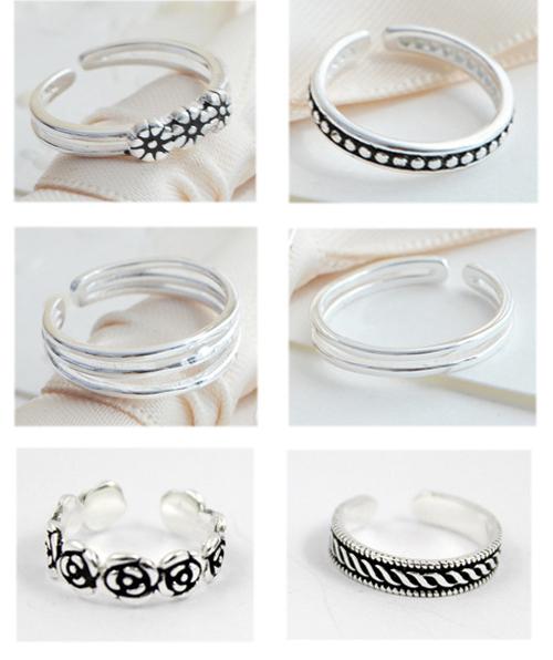 925 Sterling Silver Toe Rings