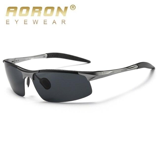 fb7f65bad AORON óculos de Sol Dos Homens Polarizados De Alumínio HD Óculos de  Proteção para o motorista
