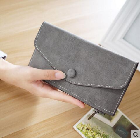 M303 Ms Long Wallet Female Thin Type Of Frosted Zero Wallet Lady's Hand Bag Students Wallet Restoring Ancient Ways Wholesale ledai wallet female long style thin personality ultra thin american japanese students simple women clutch bag crocodile skin ba