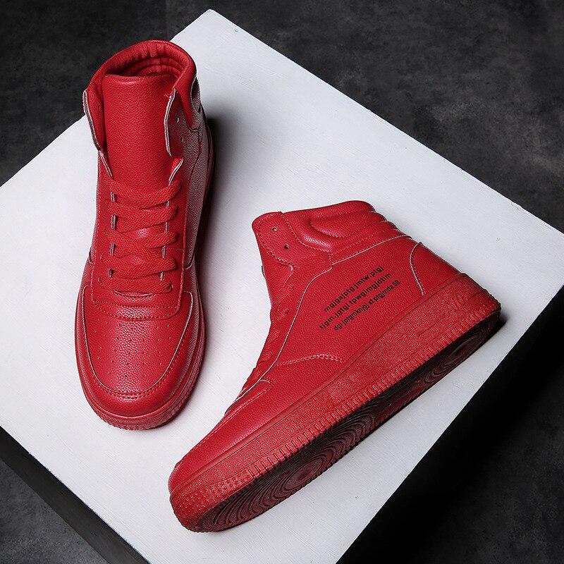 Sólido Casuales Zapatillas Up Top Zapatos Primavera Vulcanizar Niños Lace De Hombres Pu Costura Rojo Blanco SwAqPx58
