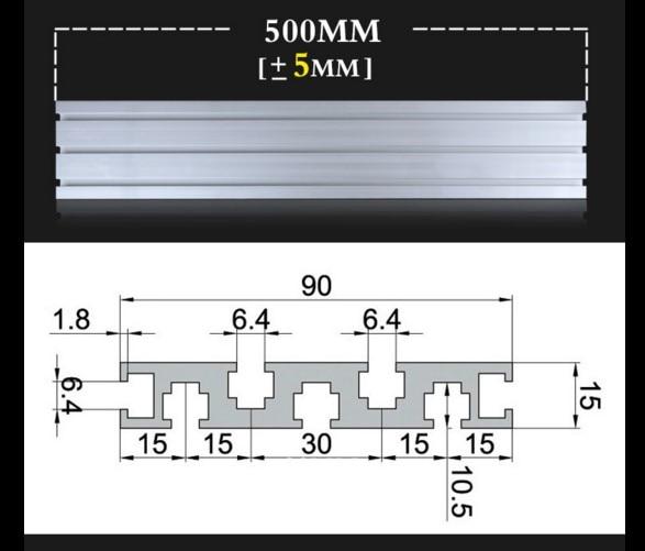 FitSain-L = 500mm 1590 alumiiniumprofiil DIY mitmeotstarbelise mini - Tööpingid ja tarvikud - Foto 2