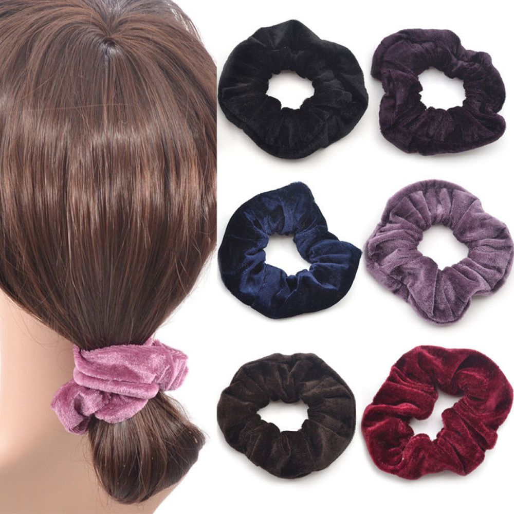 4 Pcs Fashion Cute Women Elastic Accessories Party Hair Scrunchies Ponytail Holder Scrunchy Hairband Hair Accessories 10 Colors halloween party zombie skull skeleton hand bone claw hairpin punk hair clip for women girl hair accessories headwear 1 pcs