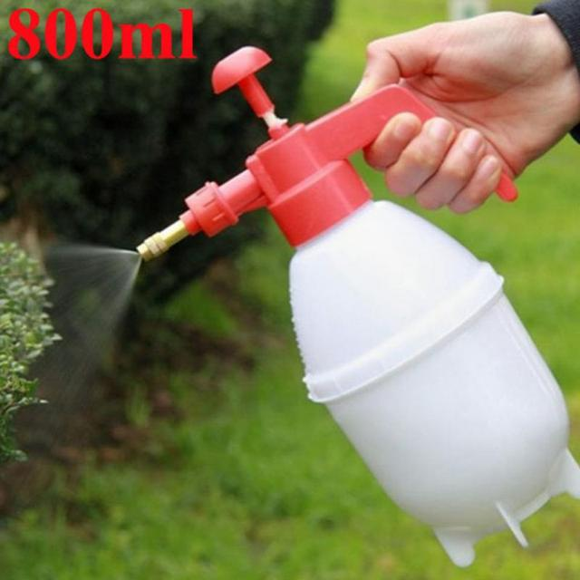 garden tools 800ml portable pressure watering can garden plant spray bottle plastic garden watering spray - Garden Watering Can
