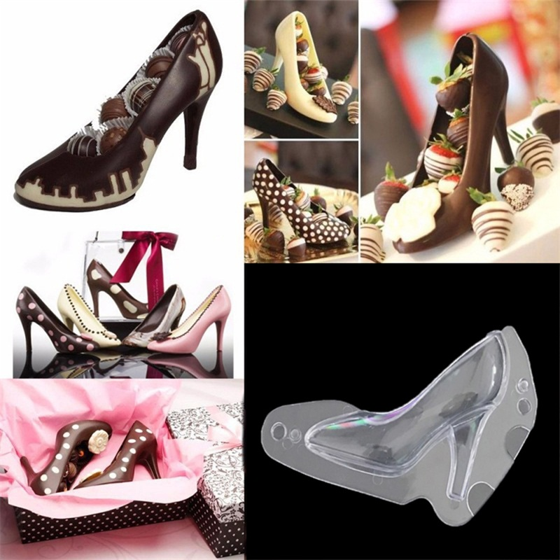 Plastic high heeled high heels egg tart chocolate bake cake mold for cakes baking mold kitchen