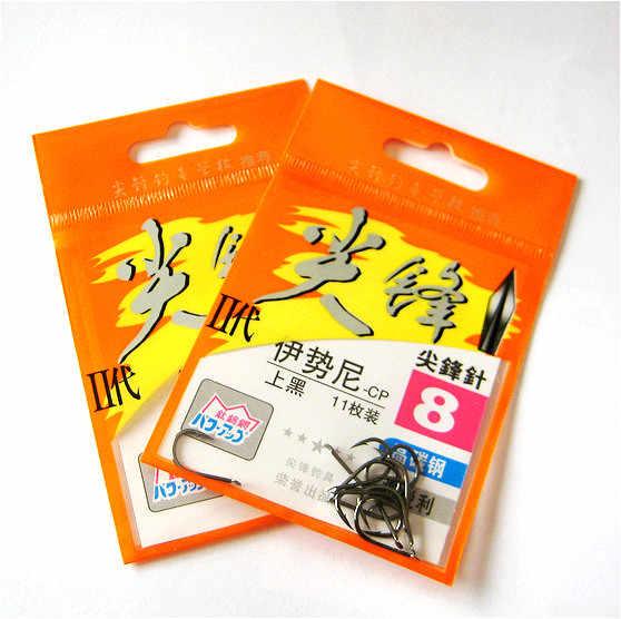 6 paquetes/lote espigas de segunda generación ISE gancho con ganchos de púas anzuelos de pesca de alta calidad pesca