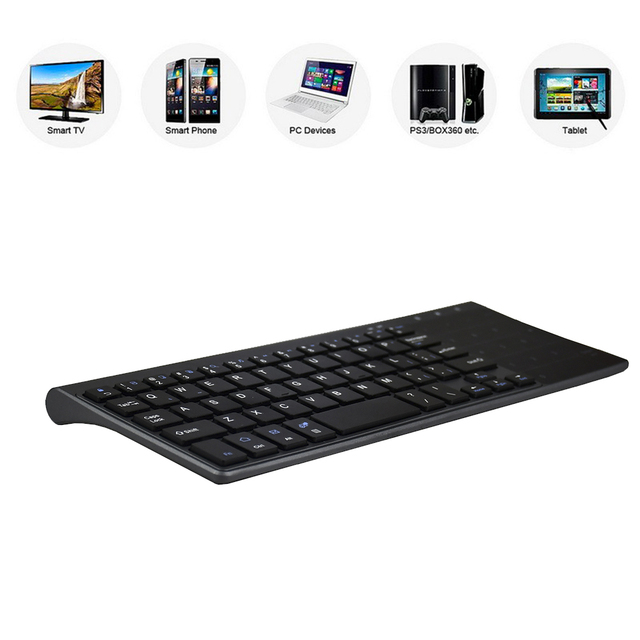 Zienstar 2.4G Wireless Mini  Keyboard with Touchpad and Numpad  for Windows PC,Laptop,Ios pad,Smart TV,HTPC IPTV,Android Box 4