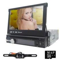 """Universal 1Din 7 """"Desmontable Car Audio Reproductor de DVD Multimedia Centro de Navegación GPS Estéreo Del Coche de Radio Bluetooth SWC retrovisor DVR cam"""