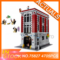 75827 4705Pcs Ghostbusters Firehouse Headquarters brinquedos Model set LegoING Building Kits Model Compatible Educational Toys