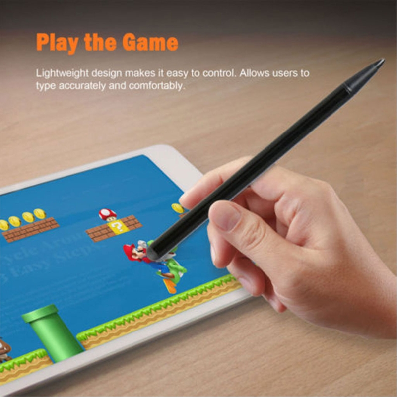 2-In-1 Capacitive & Resistive Touchscreen Stylus Pen For iPhone iPad Tablet Phone