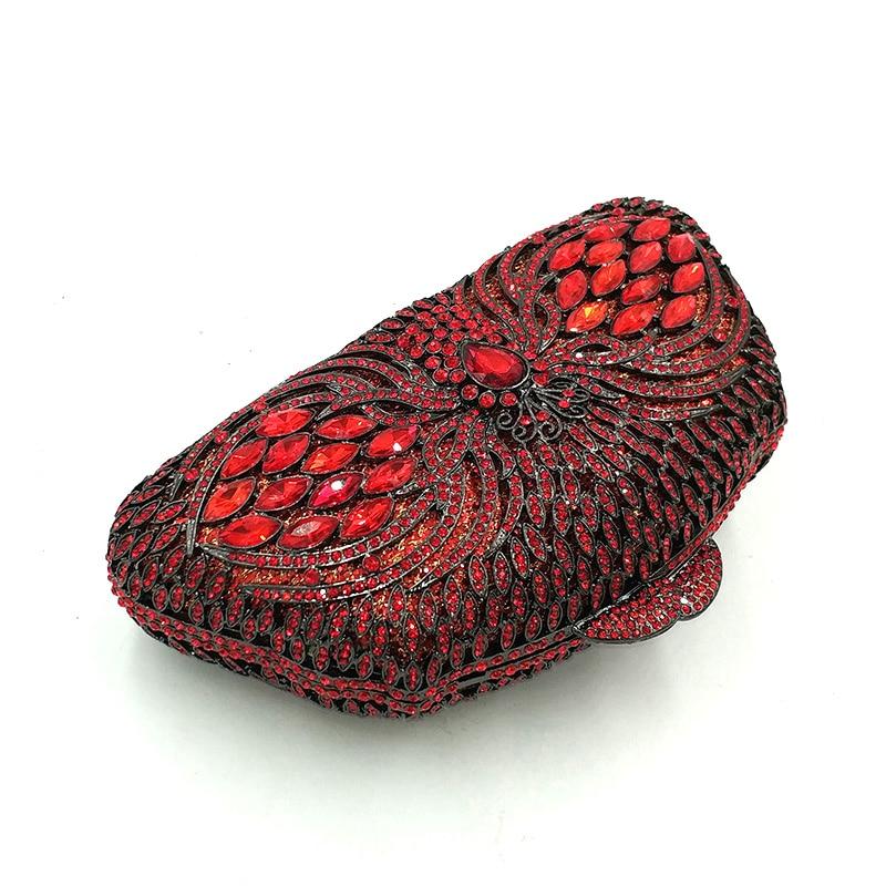 À Vintage Sacs Luxe Pictures Élégant Red Noce Main Parti Send color Embrayages Soirée Diamants Mariée Cristal 1 De Femmes Sac Date 6qzgdnd