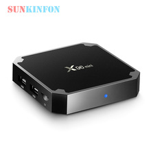 2017 Caliente de la Nueva Llegada Modelo X96 Mini Android 7.1 Smart TV Box 1 GB 8 GB 4 K Amlogic S905W 2.4 GHz WiFi PK X96 H96 Pro X92 A95X TV caja