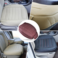 DWCX New Universal PU Leather Car Interior Front Seat Cushion Cover Single Seatpad for VW Golf Audi A4 BMW ix35 Benz Honda Civic