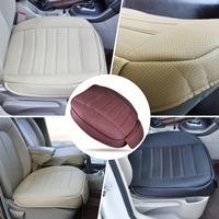 1pc New Universal PU Leather Car Interior Front Seat Cushion Cover Single Seatpad For VW Golf