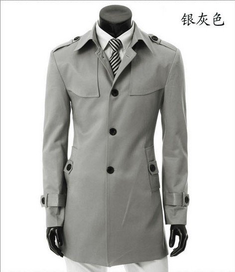 Online Get Cheap Grey Long Trench Coat Men -Aliexpress.com ...