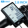 "Inbike rainproof large screen bicycle computer 2.8"" wireless bike computer speedometer odometer cycling measurable stopwatch"