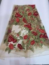Hohe qualität großhandel Indien mesh stoff/tüll spitze stickerei spitze/gaze JUAN814c-3 dubai Französisch mode kleidung