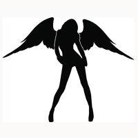 39.77 cm x 50 cm 2X Śliczne Anioł Naklejki Sexy Naklejki Samochodowe Dla Drzwi Boczne samochodów Ciężarówka Okno Tylne Szyby Vinyl Kalkomania 8 Kolory
