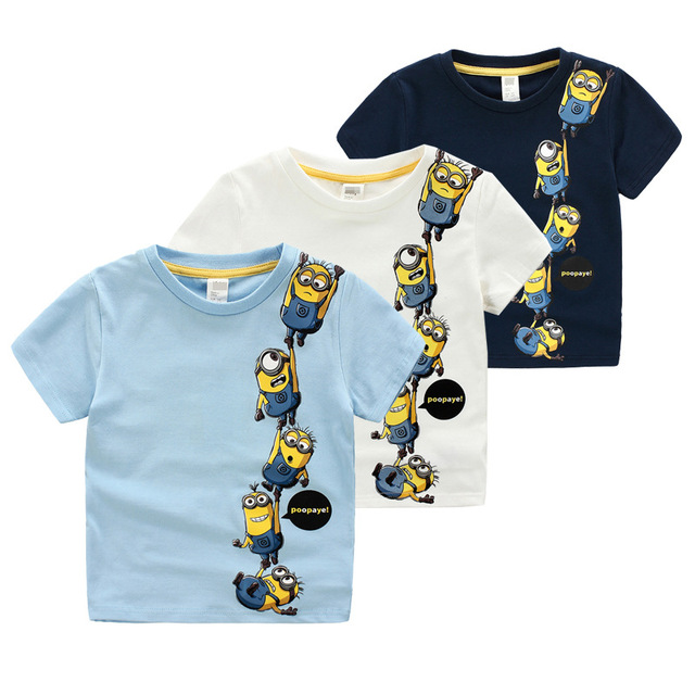 2017 fashion Children's Clothing  for summer Brand Boy sports suit cotton popular cartoon T-shirt+casual shorts 6 7 8 years
